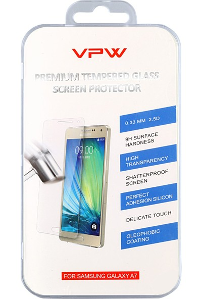 VPW Samsung Galaxy A7 Tempered Glass Ekran Koruyucu