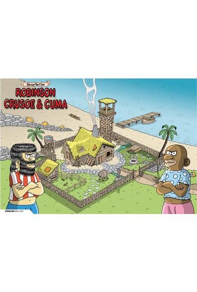 Penguen Poster: Robinson Crusoe ve Cuma (Özel Baskı)