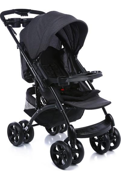 Baby Bee Comfort Çift Yönlü Bebek Arabası Siyah