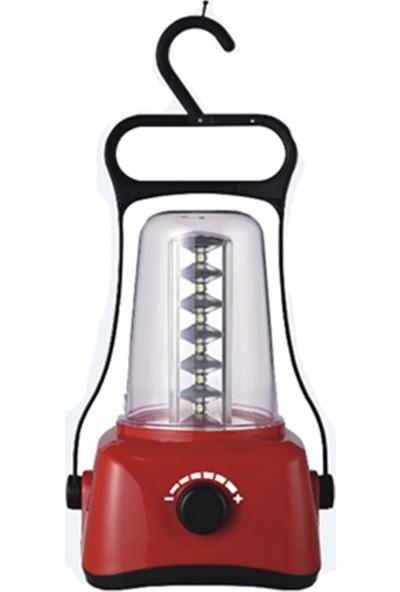Pelsan 24 Ledli Kamp Feneri - Dimmerli - Kırmızı