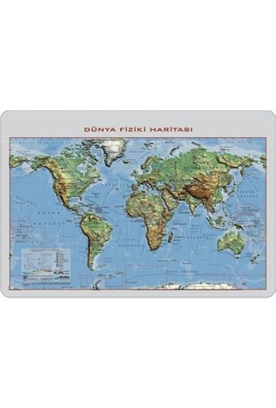 35x50 Kabartma Dünya Fiziki Haritası