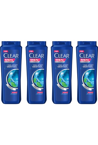 Clear Men Cool Sport Menthol Şampuan 500 ml x 4