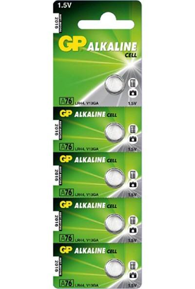 GP 5'li LR44 Alkalin Düğme Pil (GPA76-C5)