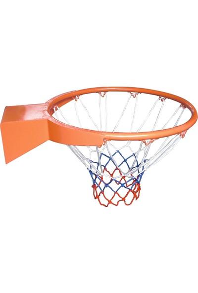 Delta İçi Dolu (Solid) Korumalı 20 mm Basketbol Çemberi + Filesi