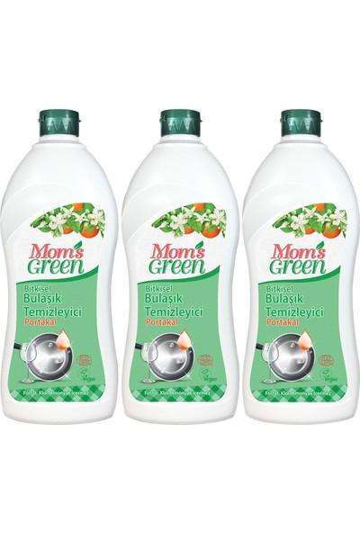 Mom's Green Bitkisel Elde Bulaşık Yıkama Deterjanı - Portakallı3'lü Set
