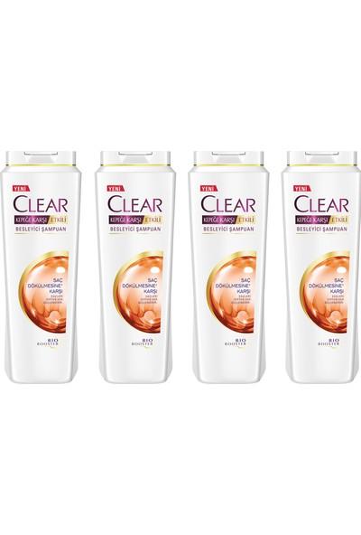 Clear Saç Dökülmesine Karşı Şampuan 500 ml x 4