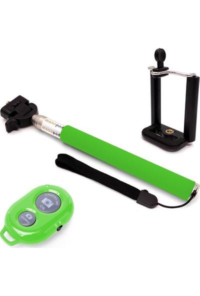 Codegen SSB-09G Bluetooth Bağlantılı Uzaktan Kumandalı Yeşil Selfie Çubuğu
