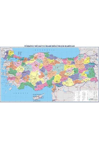 Gürbüz Türkiye Fiziki + Siyasi (Çift Taraflı )Haritası 70x100 cm 21012