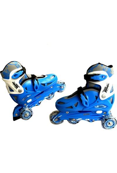 Cosfer Roller Blade Tekerlekli Paten Mavi Pilastik & Antreman ve Profesyonel