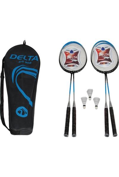 Delta Çantalı Badminton Grup Seti - 4 Badmington Raketi + 3 Top