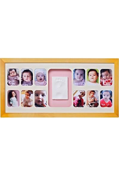 Baby Memory Prints El ve Ayak İzi 12 Aylık Çerçeve