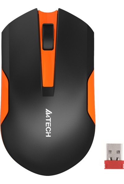 A4 Tech G3-200N V-Track Siyah Turuncu Kablosuz Mouse