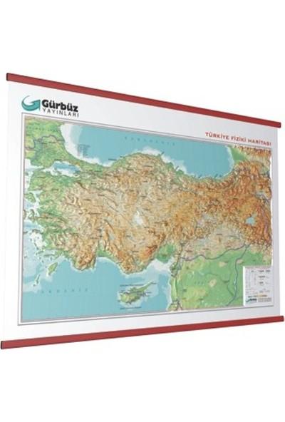 Gürbüz Kabartma Türkiye Fizik Haritası 70X100 cm 25010