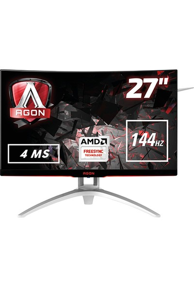 "AOC AGON AG272FCX 27"" 144Hz 4ms (2xHDMI+Display) Freesync Full HD VA Curved Oyuncu Monitör"