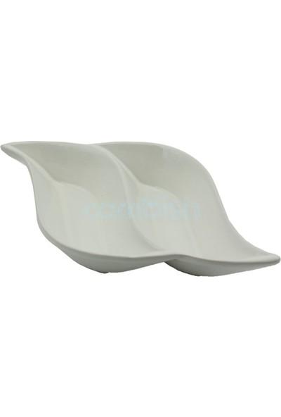 Zucci 2 Bölmeli Porselen Sosluk