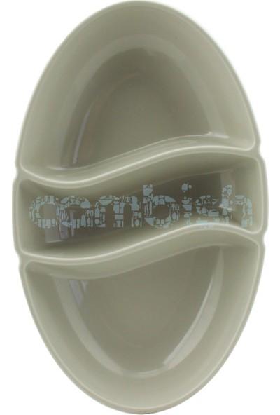 Zucci 3 Bölmeli Plastik Sosluk Gri