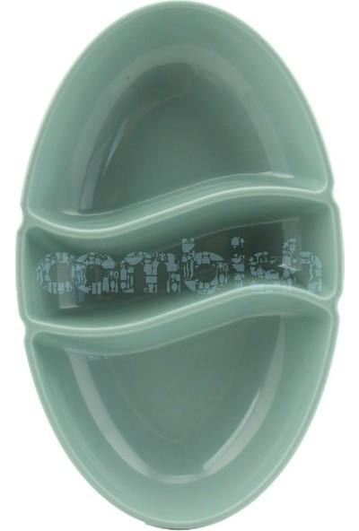 Zucci 3 Bölmeli Plastik Sosluk Mavi