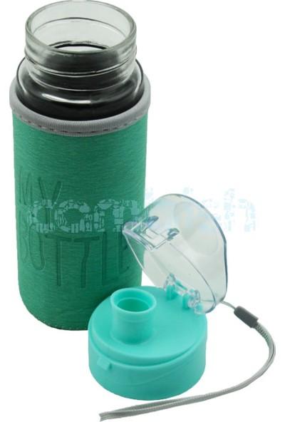 My Bottle Deri Kılıflı Cam Matara Yeşil