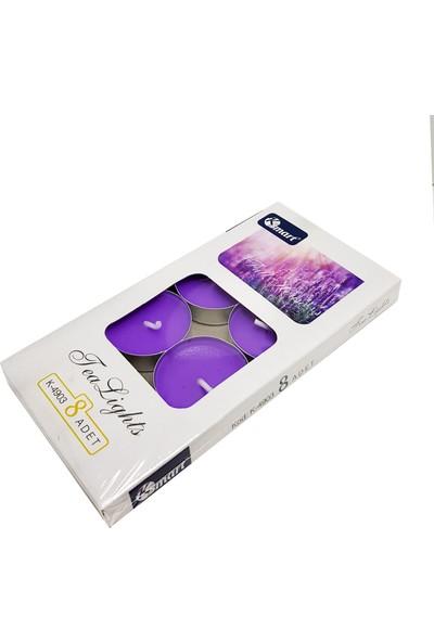 K-Smart 8'li Mor Tea Light Mum Full House MM32MR