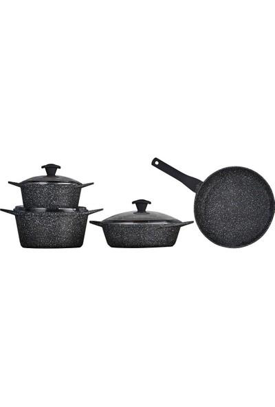 Falez Doa Cast Granit Döküm Set 7 Parça-Siyah