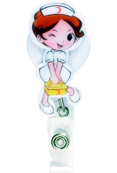 Nur Ortopedi Ambulans Hemşire Temalı Yoyo Yaka Kartlığı