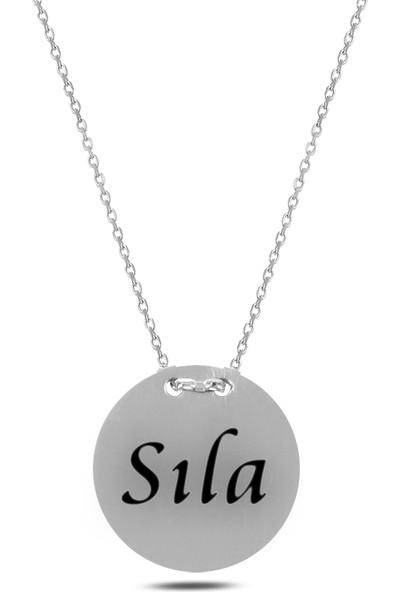 Mercan Silver Isimli Kişiye Özel Gümüş Kolye 1,50 cm