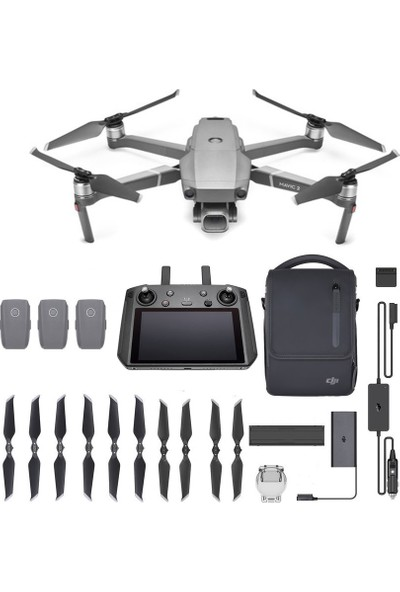 Mavic 2 Pro ( Smart Controller Kit ) Fly More Combo (Dji Türkiye Garantili)