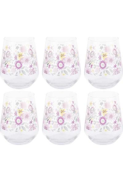 Tantitoni 6 Parça Mor Blossom Su Bardağı Takımı
