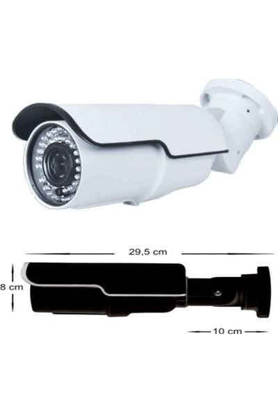 QROMAX PRO 742B 5 Megapiksel SONY LENS 1080P Aptina Sensör Beyaz Metal Kasa Güvenlik Kamerası