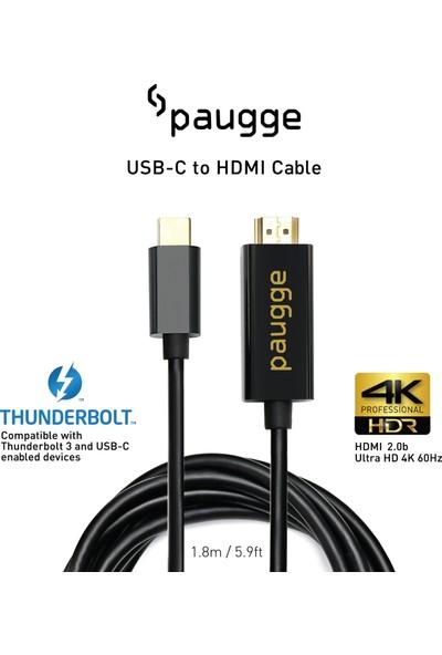 Paugge 4K 60Hz HDR HDCP 2.2 Destekli USB C to HDMI 2.0b Kablo