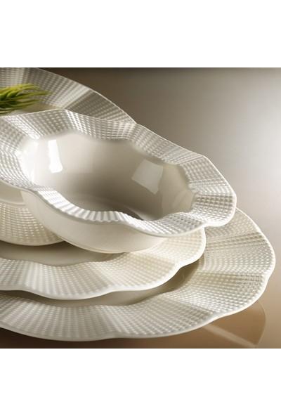 Kütahya Porselen Milena Krem 12 Kişilik 48 Prç Yemek Takımı
