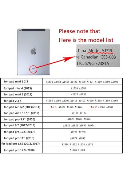 Fujimax ipad Air 2. Nesil Arka Darbe Koruyuculu Yumuşak Silikon Smart Case Siyah