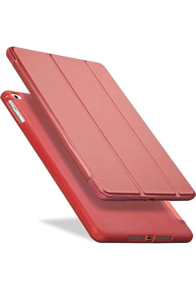 Fujimax ipad Air 2. Nesil Arka Darbe Koruyuculu Yumuşak Silikon Smart Case Kırmızı