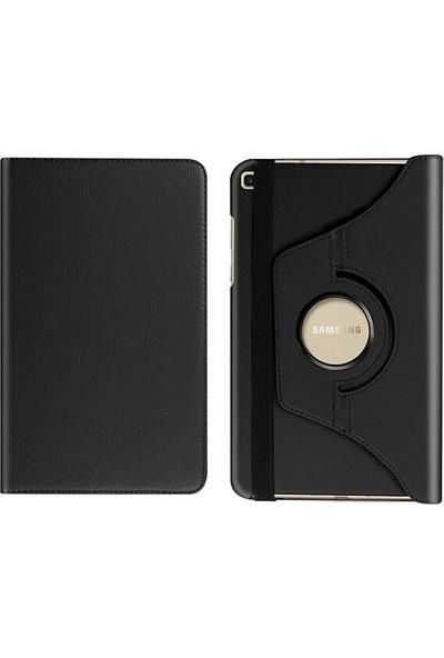 Fujimax Samsung Galaxy Tab A 8.0 İnç T290/295/297 360 Derece Döner Tablet Kılıf Siyah