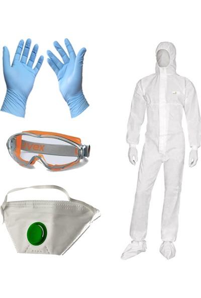 Kalant Profesyonel Boyacı Seti Tulum + Eldiven + İş Gözlüğü + Toz Maskesi