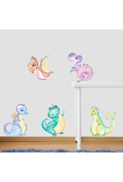 Dekor Loft Sevimli Dinazor Çocuk Odası Duvar Sticker CS-814