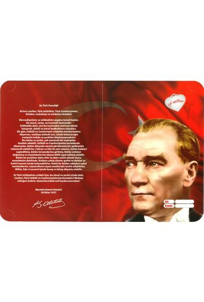 Ultrasepet HD Karne Kabı Karne Kılıfı Atatürk ve Gençliğe Hitabe (20 Adet)