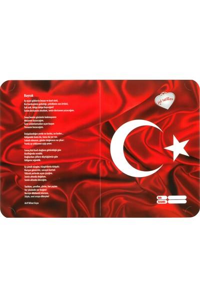 Ultrasepet HD Karne Kabı Karne Kılıfı Bayrak ve Bayrak Şiiri (20 Adet)