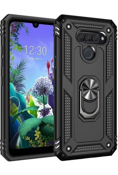 Teleplus LG Q60 Kılıf Vega Tank Kapak+ Nano Ekran Koruyucu Siyah
