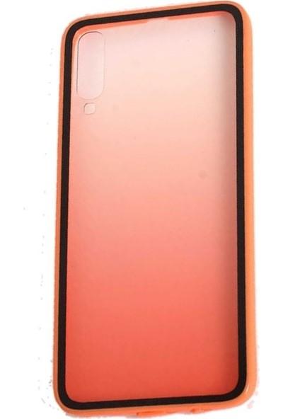 Teleplus Samsung Galaxy A50 Kılıf Estel Candy Silikon + Nano Ekran Koruyucu Turuncu