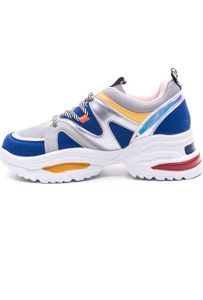 Mille Dalya Günlük Giyim Kadın Ayakkabı Saks Mavi