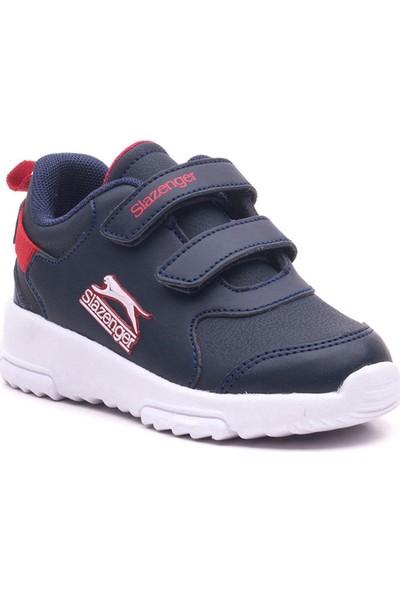 Slazenger Florıda Spor Çocuk Ayakkabı Lacivert / Kırmızı