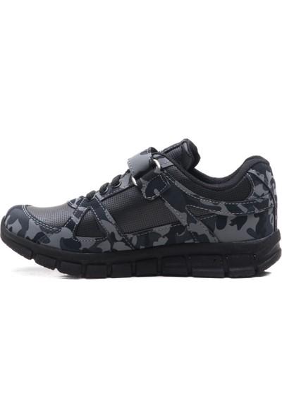 Slazenger Afra Spor Çocuk Ayakkabı Siyah Kamuflaj