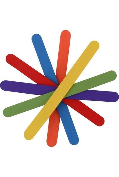 Kraf Kids Ahşap Çubuk Renkli Küçük 50 Li Kk171