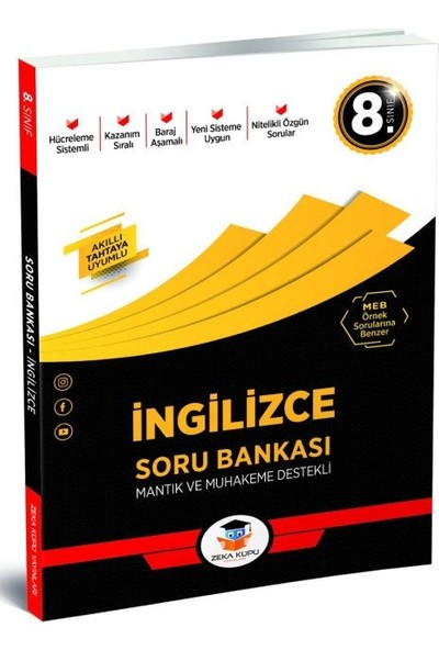 8.Sınıf İngilizce Soru Bankası Zeka Küpü Yayınları