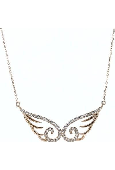 MaGümüş İtalyan Tasarım Mikail'İn Kanadı Angel Melek Gümüş Kolye