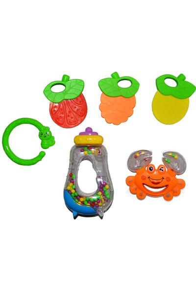 Baby Rattle 999-33 Yengeç Çıngırak Set Diş Kaşıyıcı Sarı