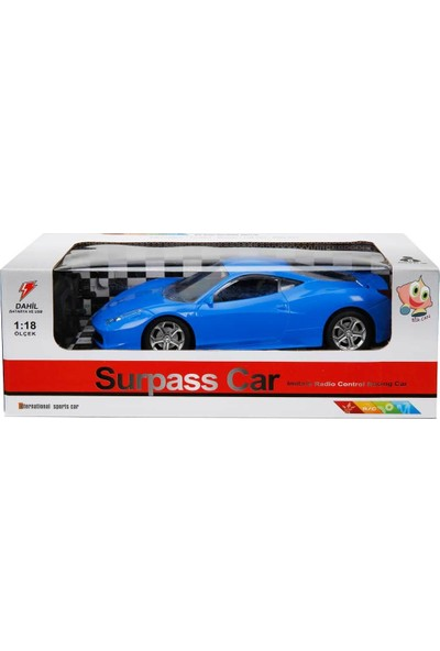Surpass Car 2037 Uzaktan Kumandalı Pilli Kutuda Araba Mavi