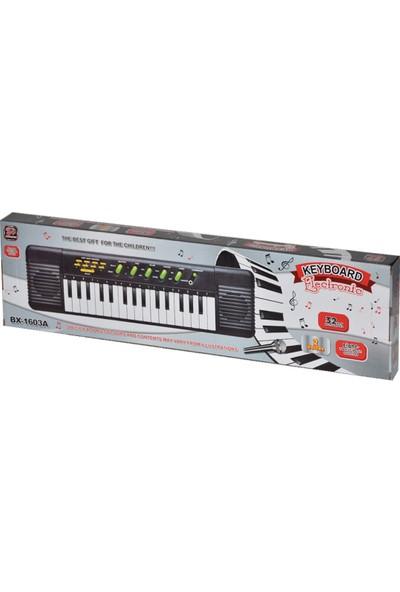 Keyboard 32 Tuşlu Ve Mikrofonlu Elektronik Pilli Org