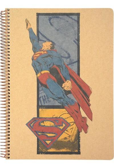 Mynote Superman A4 100 Yaprak Kraft Kareli Defter Desen 8